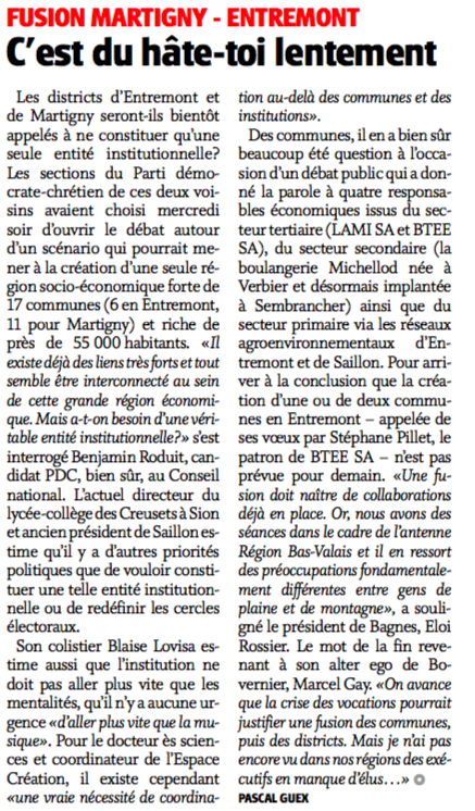 Article Nouvelliste